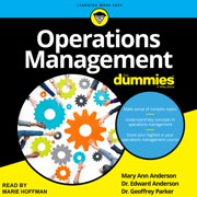 Operations Management For Dummies - Audiobook