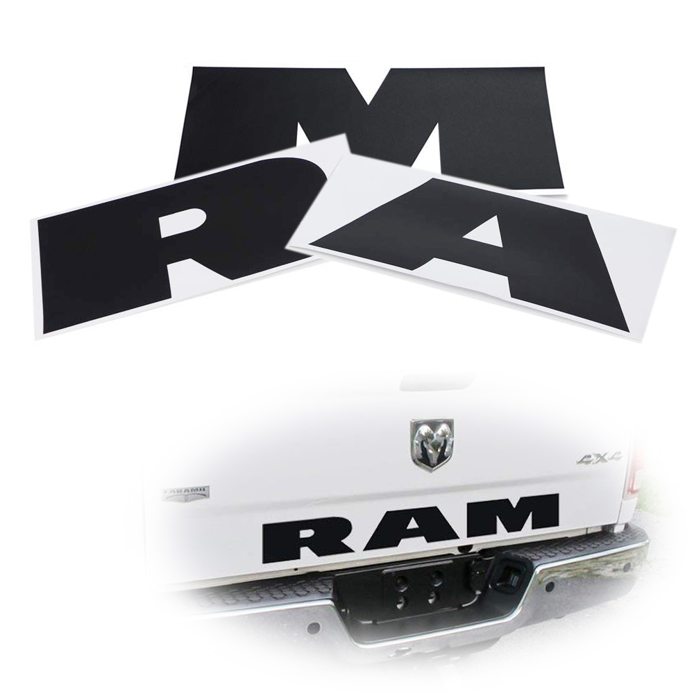 Car Tailgate 3D RAM Letter Logo Sticker Emblem Rear Trunk Badge For Dodge Ram US