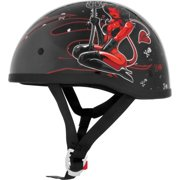 Skid Lid Lethal Threat Half Helmet Hell On Wheels SM