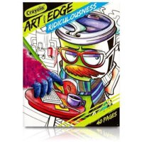 Crayola Art With Edge Ridiculousness, Adult Coloring Book, 40 Pages
