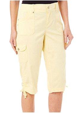ca88ce9d06a6c Product Image Gloria Vanderbilt Women s Lana Cargo Skimmer Short (Light  Dandelion