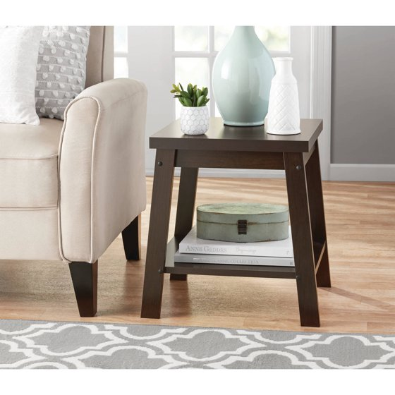 Logan Side Table ~ Mainstays logan side table multiple finishes walmart