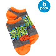 Boys' No Show Socks Sports, 6 Pack