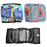 "PACK – 2 Colors WATERPROOF Diapers Dog Belly Band WITH ABSORBENT Pad Male Wrap Reusable sz XXS (waist 6"" - 8"")"