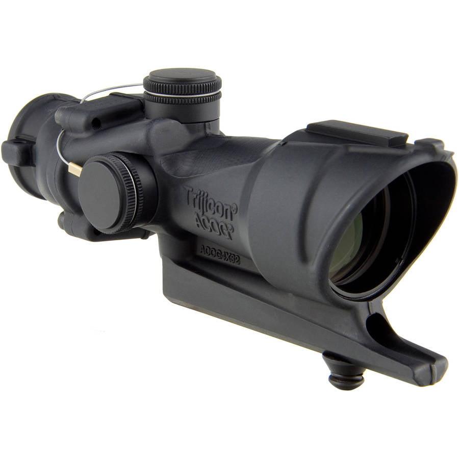 Trijicon ACOG Rifle Scope, 4X32, Red Crosshair Reticle, M16 Base, Matte