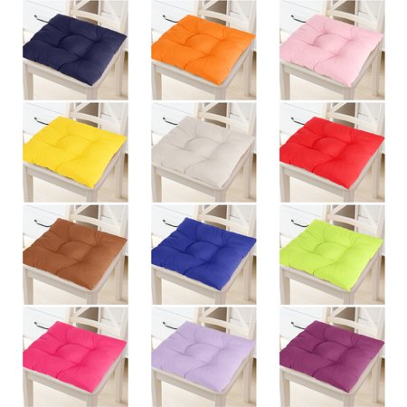15.8*15.8 inch 12 Colors Soft Chair Seat Pillow Cushion Pads Indoor Comfort Sit Mat with Sling For Garden Patio Home Kitchen Office Chairs Decor ()