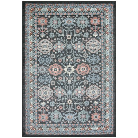Better Homes And Gardens Adelaide Fl Cut Pile Textured Print Nylon Gray Area Rug Or Runner