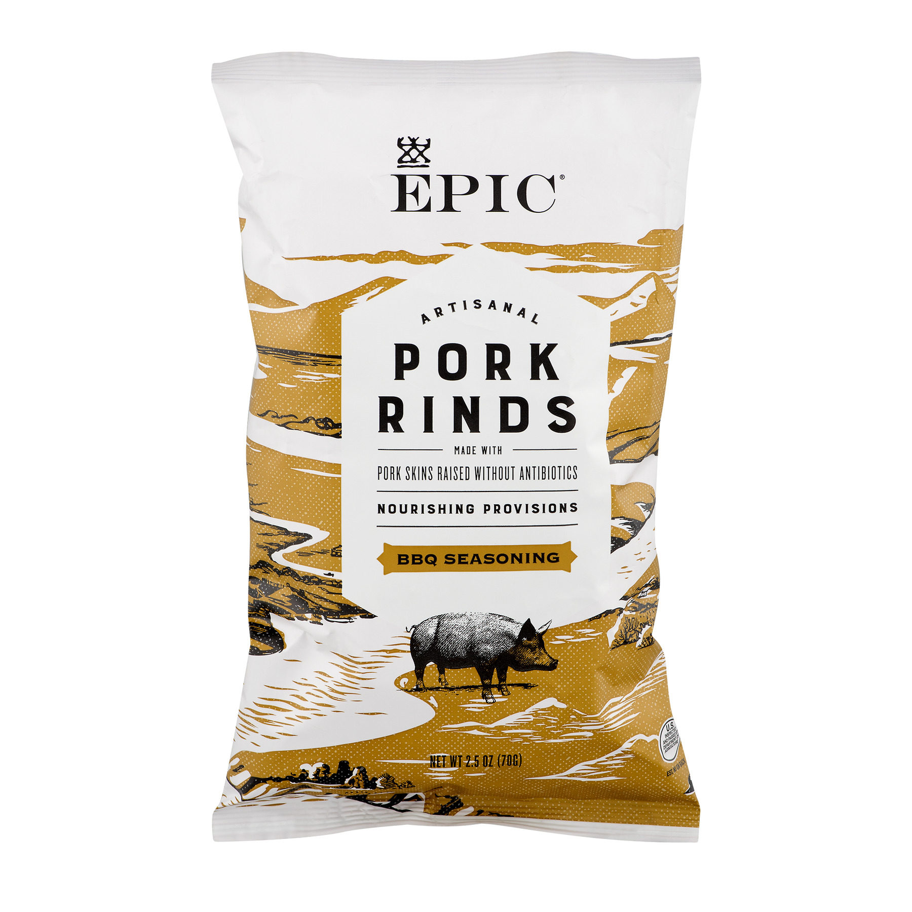 EPIC Provisions Texas BBQ Flavored Pork Rinds 12ct 2.5 oz Bags