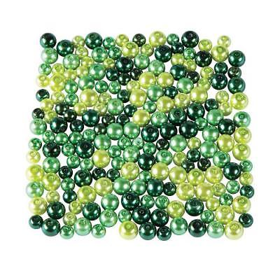 IN-13752507 St. Patrick's Day Green Pearl Bead Assortment 6mm - 8mm