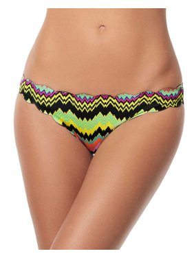 a5c3b4b9a24 Product Image PilyQ Scallop Edges Print Reversible Bikini Bottom Medium  Multi Womens Teeny Cut