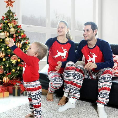 c5395f96af Christmas - Bobora Family Matching Pajamas Set Deer Matching Kids Mom Dad  Sleepwear Nightwear Asian Size - Walmart.com