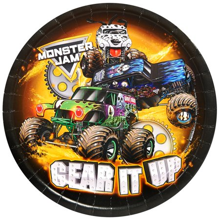 Monster Jam Party Supplies 48 Pack Lunch Plates