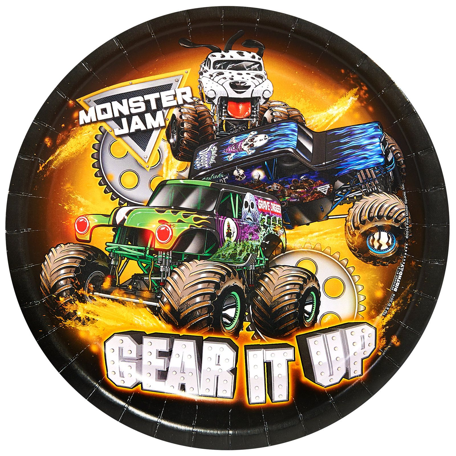 Monster Jam Party Supplies 32 Pack Lunch Plates