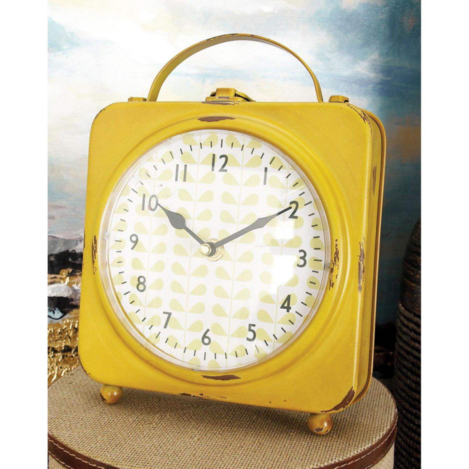 The Delightful Metal Desk Clock 4 Assorted by Benzara