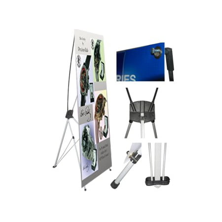 ESC ® Pack of  1/5/10  X Type Banner Stand Tripod Trade Show Exhibition Display 24