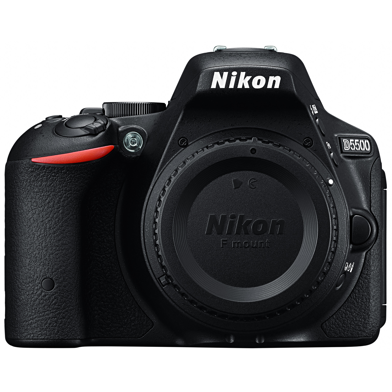 D5500 DSLR Camera with AF-P 18-55mm VR Lens (Red) + Nikon...