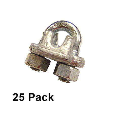 """5/16"""" Galvanized Drop Forged Wire Rope Clips (25 pack)"""