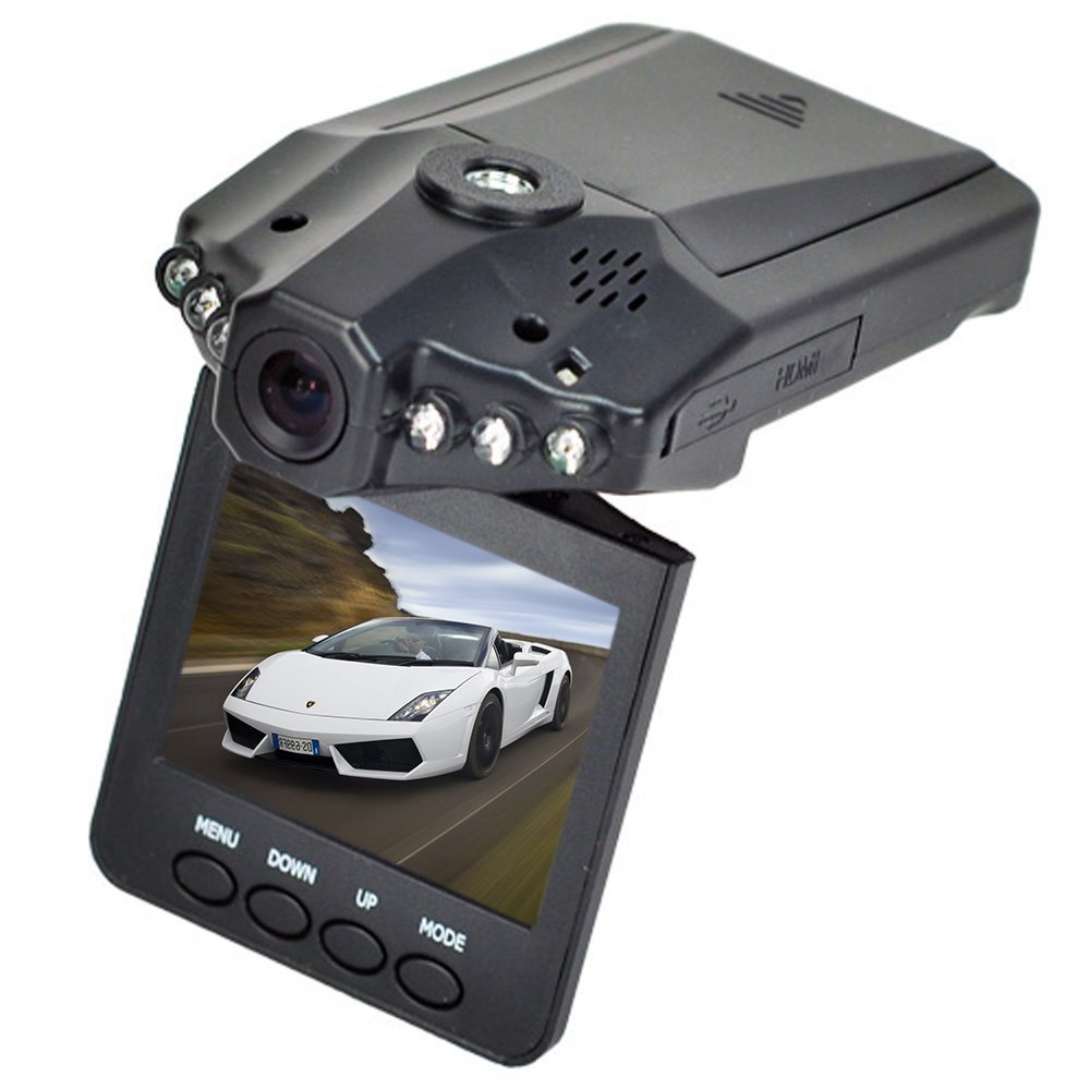 Napoer Beelike HD Car DVR Traveling Driving Data Recorder Camcorder Vehicle Camera with 120° Angle View, Black
