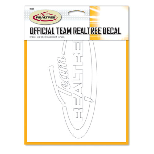 Realtree Decal, White
