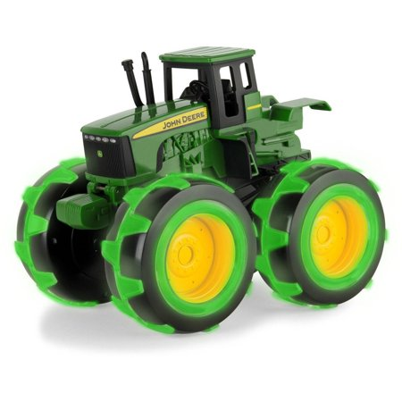 John Deere Toy Tractor, Monster Treads Deluxe Lightning Wheels Tractor,