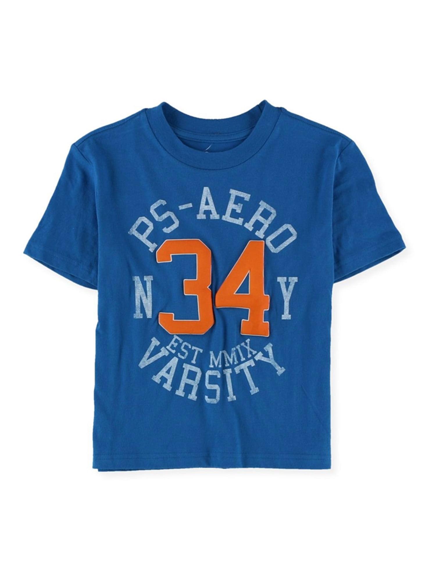 Aeropostale Boys Ny 34 Varsity Graphic T-Shirt