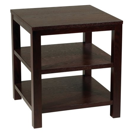 "Office Star Avenue Six Merge 20"" Square End Table, Espresso Finish"