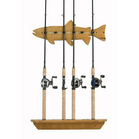 Walnut Veneer Mdf - Organized Fishing Wall Rack, veneered MDF