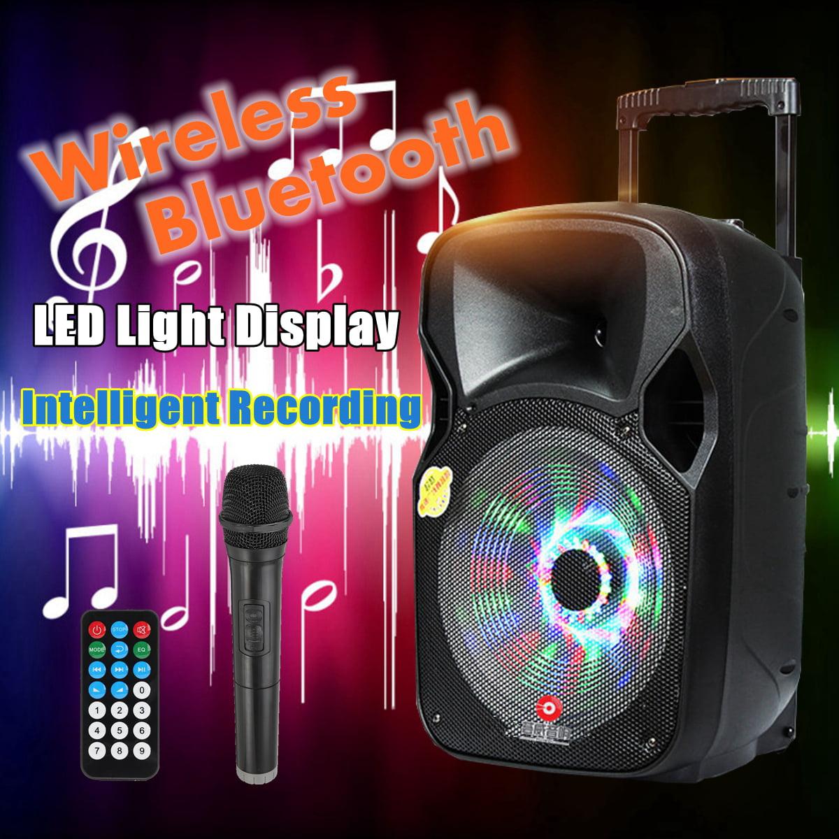 "12""*BLUETOOTH*Portable KARAOKE PARTY PA DJ SPEAKER SYSTEM*with Lights&Mic"