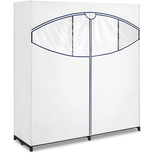 "Whitmor 60"" Extra-Wide Clothes Closet, White"