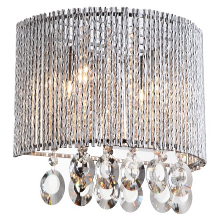 Eurofase Lighting Crystal Sconce - Crystalline Round 2 Light Crystals Wall Sconce