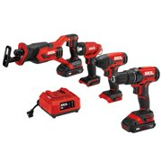 SKIL PWRCore 4-Tool 20V Cordless Combo Kit with (2) 2.0Ah Lithium-Ion Batteries and Charger, CB739601