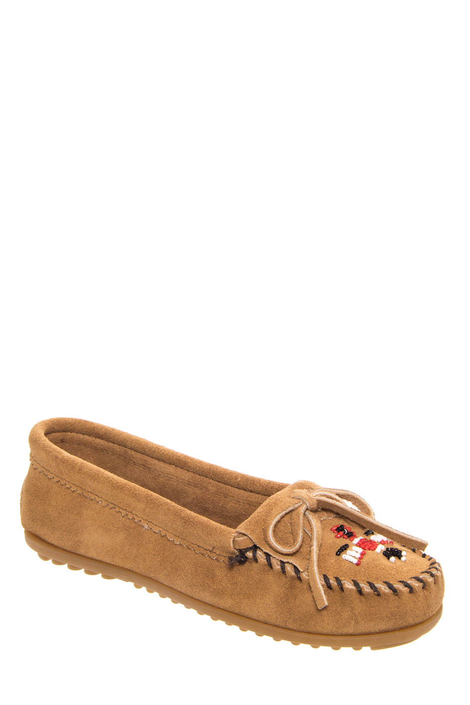 Click here to buy Minnetonka 607t Thunderbird II Moccasin Taupe.