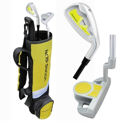Young Gun BIRDIE YELLOW Junior golf club Youth Set & bag for kids Ages 3-5 RH