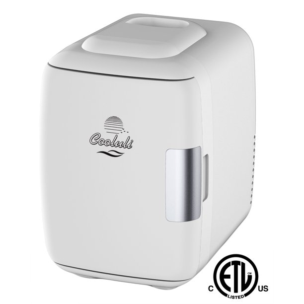 Cooluli Electric 4 Liter Portable Cooler Warmer Mini Fridge White Walmart Com Walmart Com