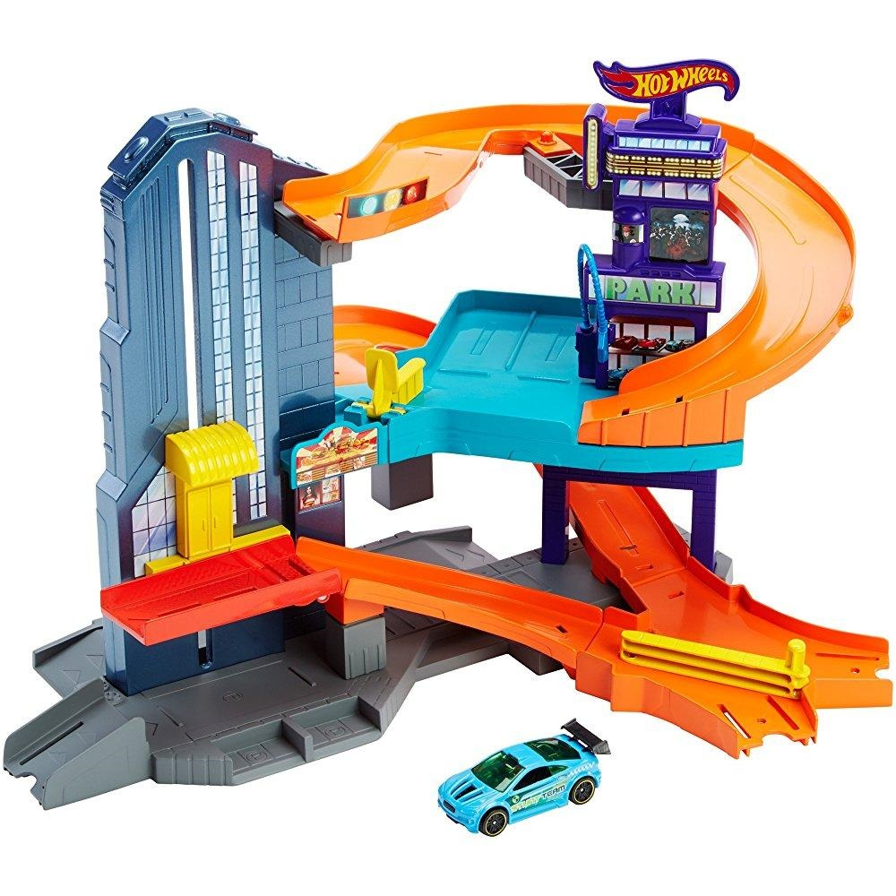 Hot Wheels Workshop Track Builder Speedtropolis Track Set