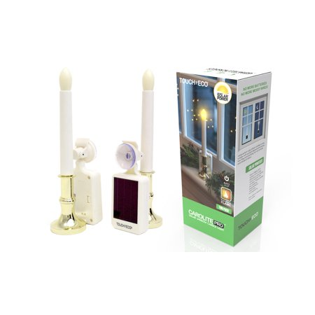 CAROLITE PRO Solar Window Candle - 2 Pack (Solar Window Candles)