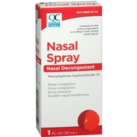 5 Pack Quality Choice 4 Way Acting Nasal Spray 1oz Each 4 Way Spray