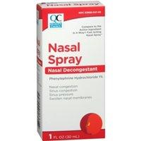 5 Pack Quality Choice 4 Way Acting Nasal Spray 1oz Each