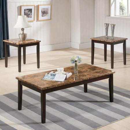 inroom designs 3 piece coffee table set