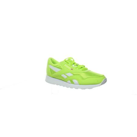 Reebok Mens Nylon Neon Lime/White Running Shoes Size