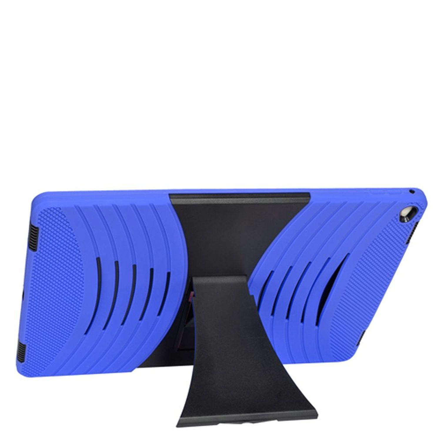 "iPad Pro 12.9"" Cover Case, by Insten Dual Layer [Shock Absorbing] Hybrid Stand Rubber Silicone/Plastic Case Cover For Apple iPad Pro 12.9"", Blue/Black"