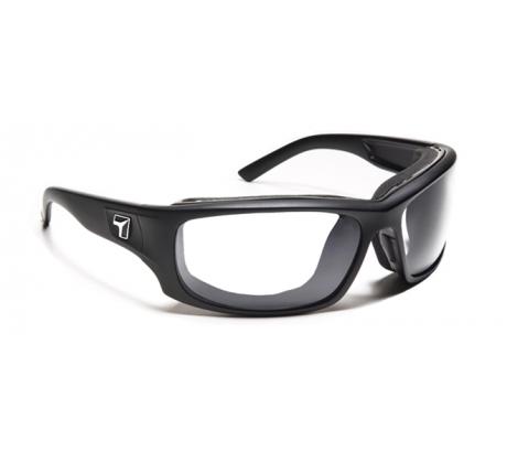Image of 7 Eye Air Shield Panhead Sunglasses, SharpView Clear Lens, Matte Black Frame,M-XL