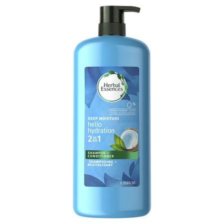 Herbal Essences Hello Hydration 2 in 1 Moisturizing Shampoo & Conditioner, 33.8 fl oz (2 Essence)