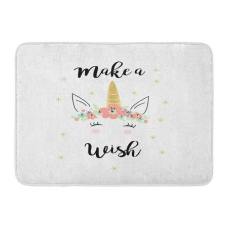 KDAGR Birthday Quote Unicorn in Baby Girl Cute Rainbow Dream Doormat Floor Rug Bath Mat 23.6x15.7 inch](Welcome Home Baby Ideas)