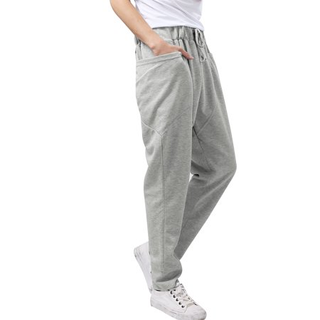 Men Stretchy Waist Design Sports Wear Light Gray Casual Pants W28/30 - image 6 of 7