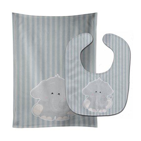 Elephant Al Baby Bib & Burp Cloth (Elephant Bib)