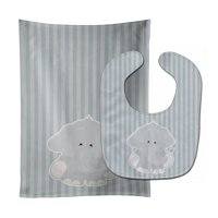 Elephant Al Baby Bib & Burp Cloth