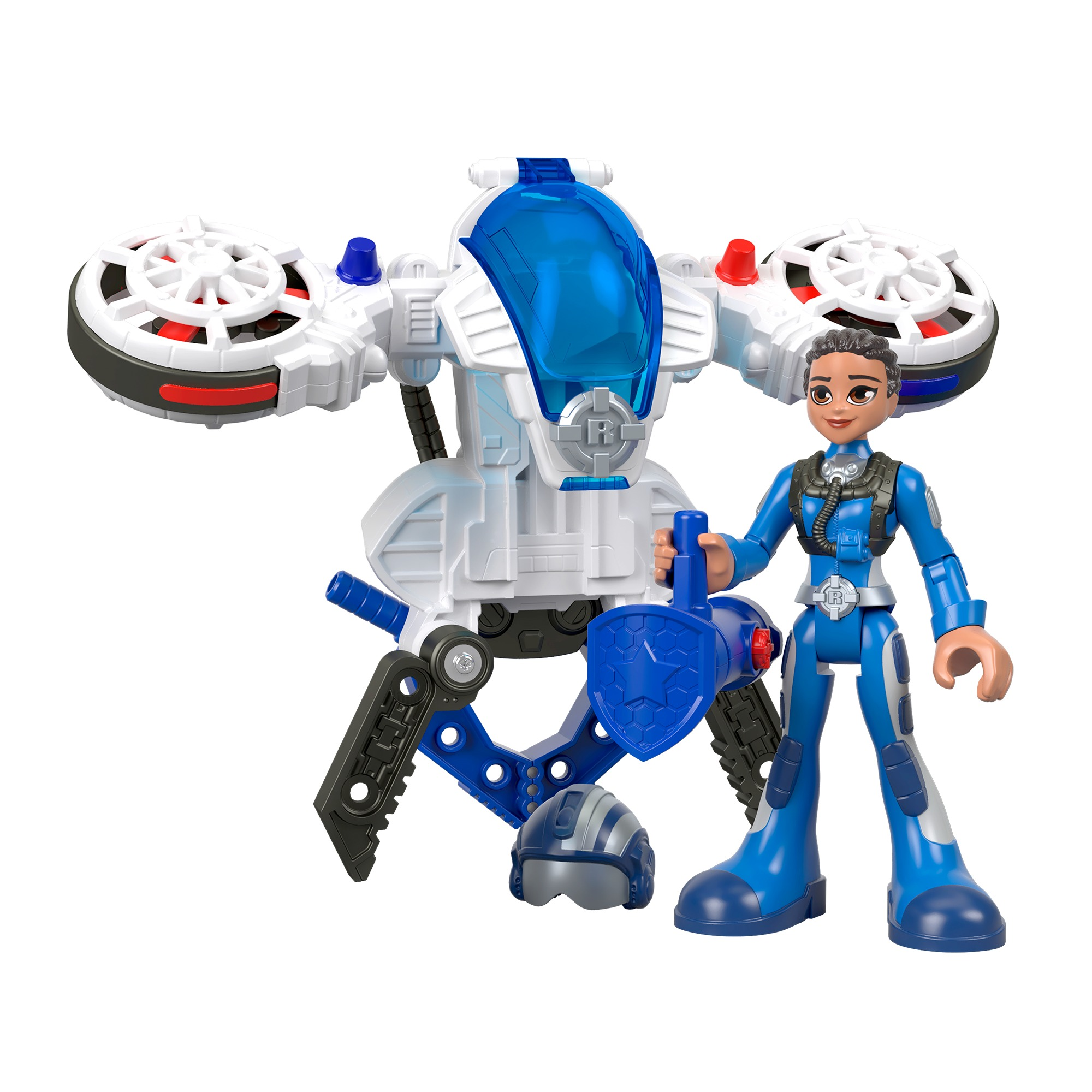 Rescue Heroes Sky Justice & Hover Pack with Spinning Propellers