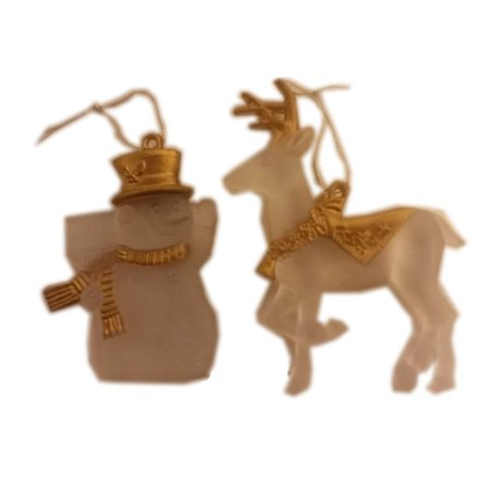 Golf Snowman (Frosted Glass Look Gold Accents Reindeer & Snowman)