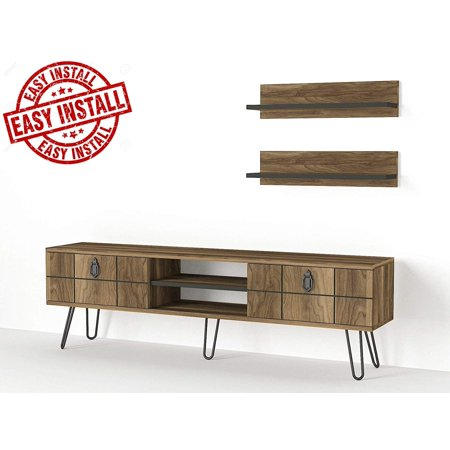 Brilliant Tv Stand For 55 Inch Tv Tv Stands Tv Unit Tv Stands For Flat Screens Tv Stand Compatible With 55 50 42 40 32 Inch Tv Tv Stand Brown Tv Stand Home Interior And Landscaping Mentranervesignezvosmurscom